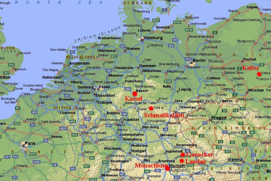 Niemiec bawaria mapa Koronawirus w